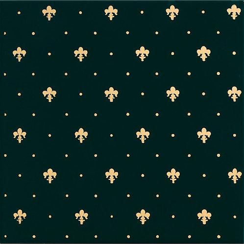 Керамическая плитка Giglio Oro Su Verde 20 × 20 см