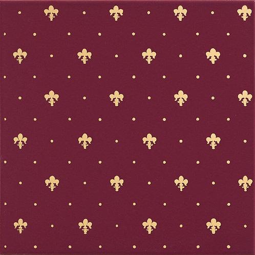 Керамическая плитка Giglio Oro Su Bordeaux 20 × 20 см