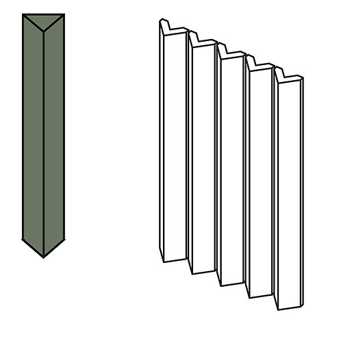 Декор Rombini Triangle Small Green 18,6 × 31,5 см