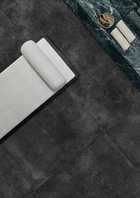 Pavimenti+Effetto+Cemento+++Resina+Nero-