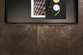 Pavimenti+Effetto+Metallo+Marrone-brown-