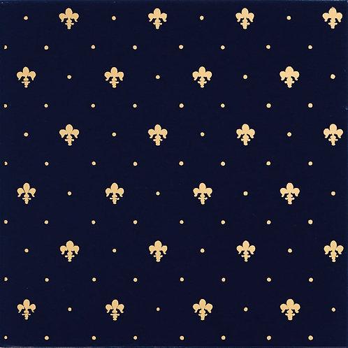 Керамическая плитка Giglio Oro Su Blu 20 × 20 см