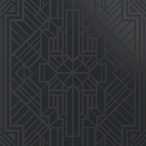 Керамогранит Labirinto nero su fondo nero matt  60*60 см