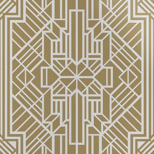Керамогранит Labirinto ottone su fondo bianco matt  60*60 см
