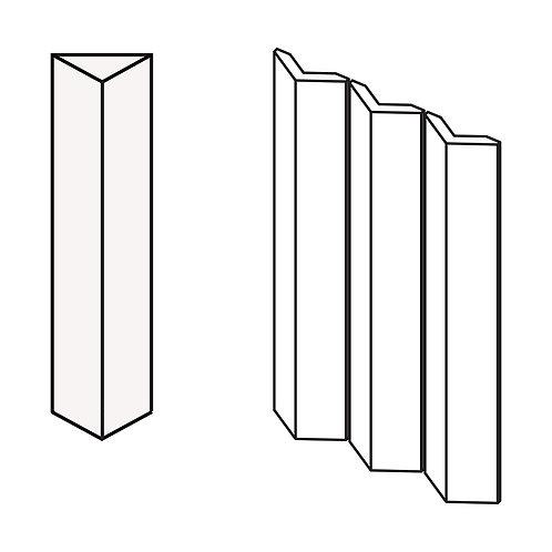 Декор Rombini Triangle Large White 18,6 × 31,5 см