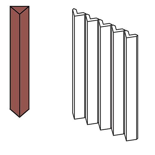 Декор Rombini Triangle Small Red 18,6 × 31,5 см