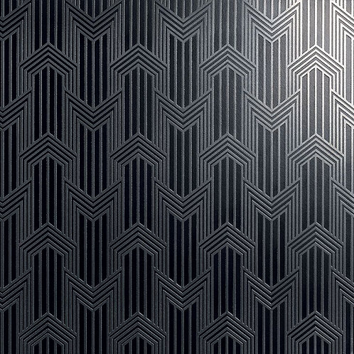 Керамогранит Geometria sterling silver su fondo nero matt  60*60 см