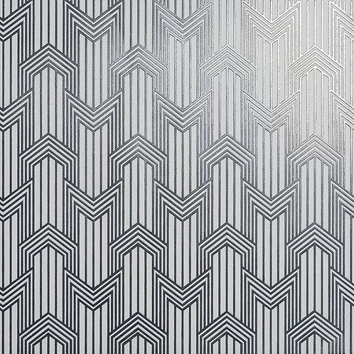 Керамогранит Geometria sterling silver su fondo bianco matt  60*60 см