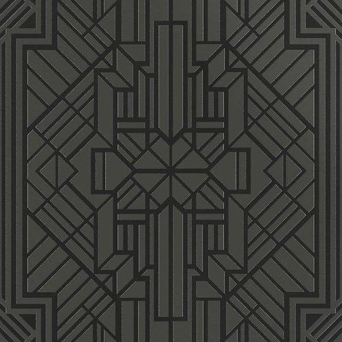 Керамогранит Labirinto sterling silver  su fondo nero matt  60*60 см