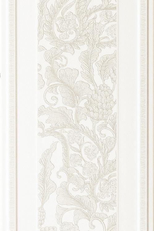 Керамическая плитка England Bianco Boiserie Sarah Dec 33,3 × 100 см