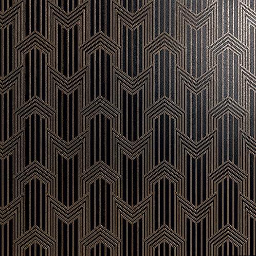 Керамогранит Geometria ottone su fondo nero matt  60*60 см