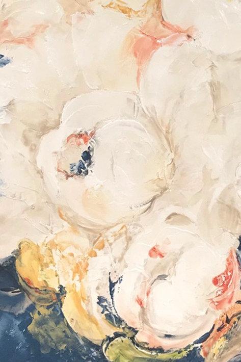 Керамогранит I Decorativi Blu Flower 2  100 х 300 см