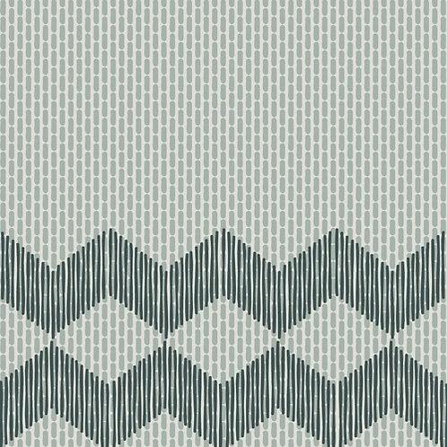 Керамогранит Tape Zigzag half green 20,5 × 20,5 см