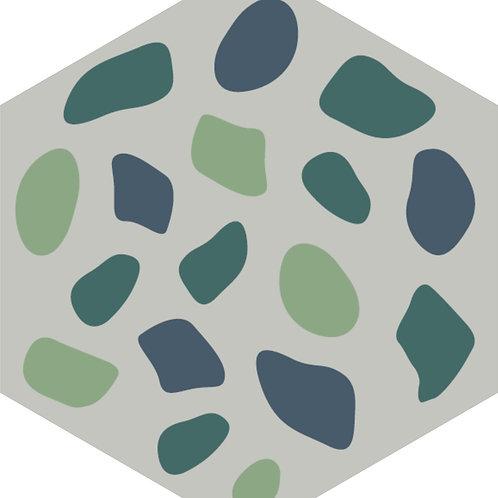 Цементная плитка Grit Blue E 23*23 см