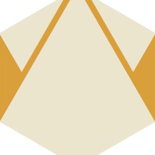 Цементная плитка  Plisados Ambar_E 23*23 см