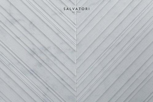 Мрамор Chevron Bianco Carrara 900 x 198 x 14 mm