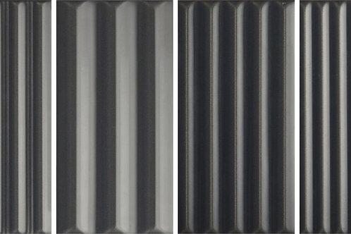 Керамическая плитка WigWag Black 7,5 × 15 см