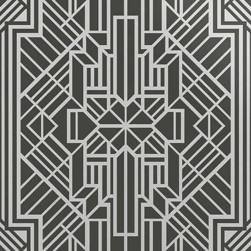 Керамогранит Labirinto sterling silver su fondo bianco matt  60*60 см