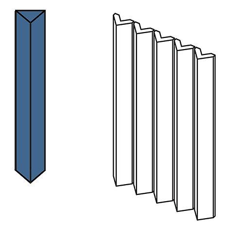 Декор Rombini Triangle Small Blue 18,6 × 31,5 см
