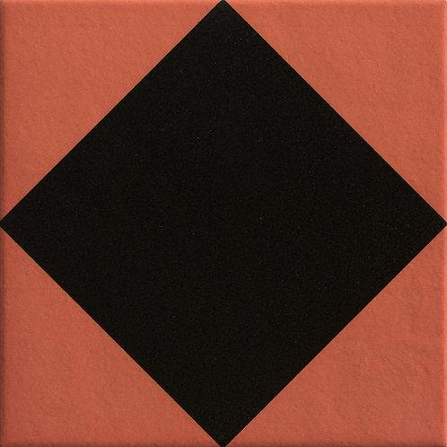 Керамогранит Rombus Black 20.5 x 20.5 см