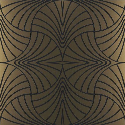 Керамогранит Piuma ottone su fondo nero matt 60*60 см