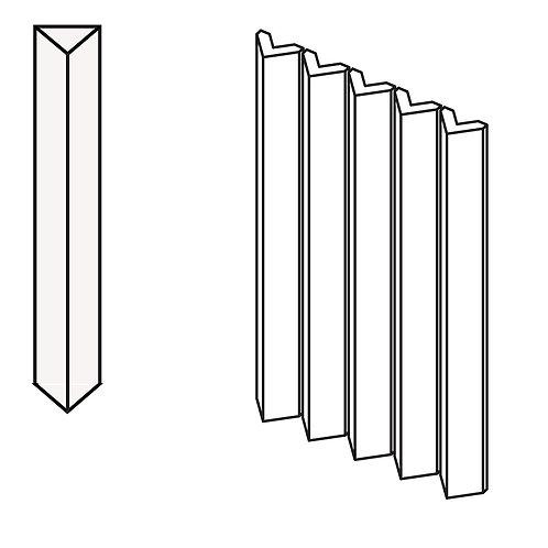 Декор Rombini Triangle Small White 18,6 × 31,5 см