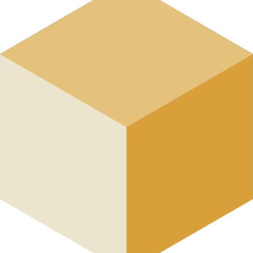 Цементная плитка Dal Bianco Cubic Sun_E 23 × 23 см