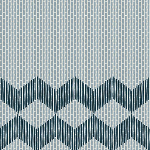 Керамогранит Tape Zigzag half blue 20,5 × 20,5 см