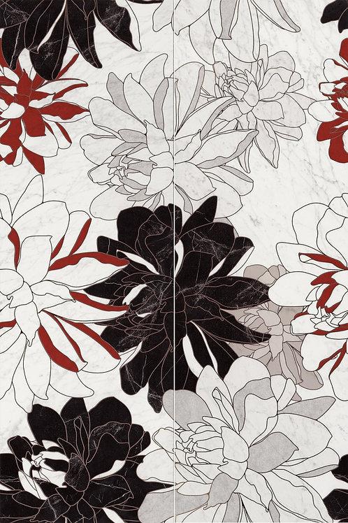 Керамическая плитка Majestic Jewel Flowers 40 × 120 см