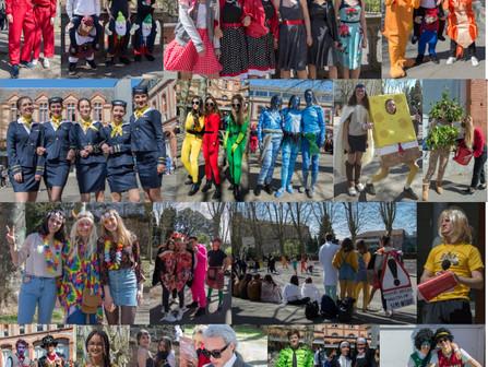 Les lycéens font leur carnaval