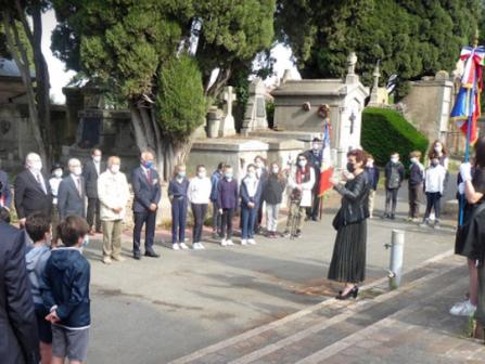 Sortie à Terre Cabade au Monument aux Morts