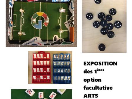 Expo des 1ères Option Arts Plastiques