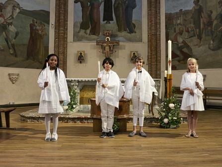 Baptême de 4 enfants du Primaire