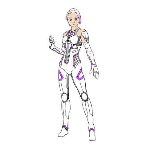 Cyber-Girl Annika Character Design