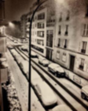 #levallois #france #neige #snow #midnigh