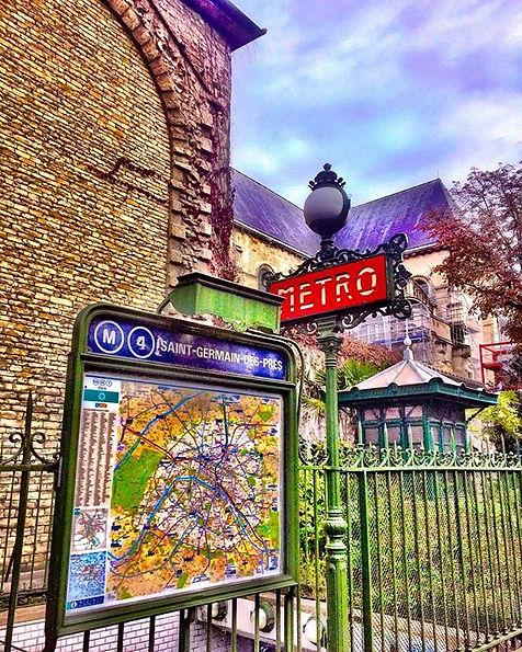 #paris #saintgermaindesprès #metro #love