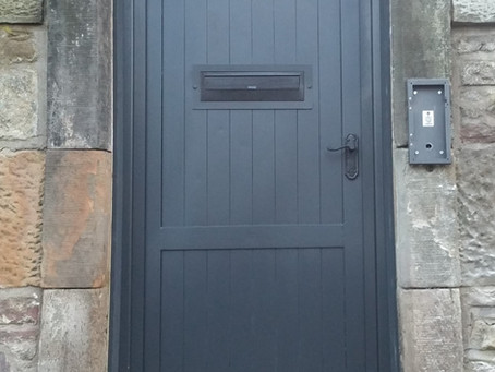Timber Look Entrance...