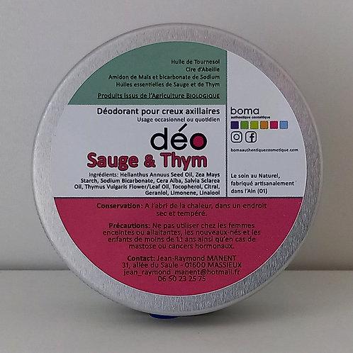 déO Sauge & Thym 59 g - alu.