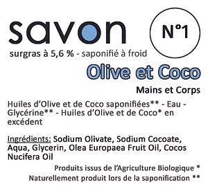 Savon N°1 Olive - Coco