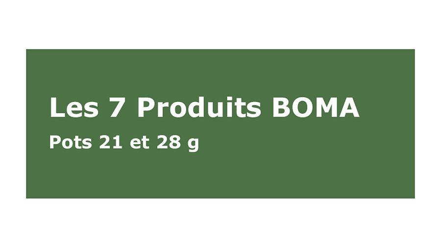 7 Produits Cosmétiques BOMA