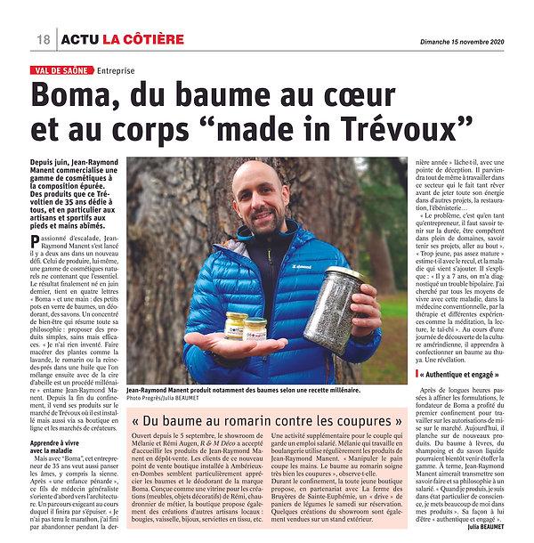 Article BOMA Le Progrès 15.11.20 copie.jpg