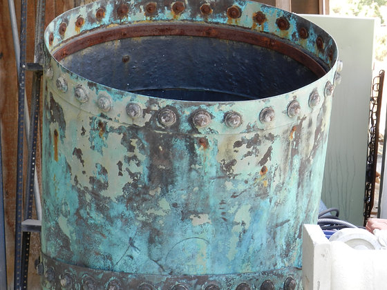 OXIDIZED COPPER CONTAINER
