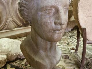 Venus Head on Iron Stand
