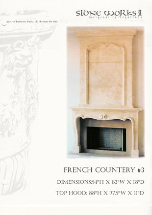 FRENCH COUNBTRY#3  MANTEL W/OVERHOOD
