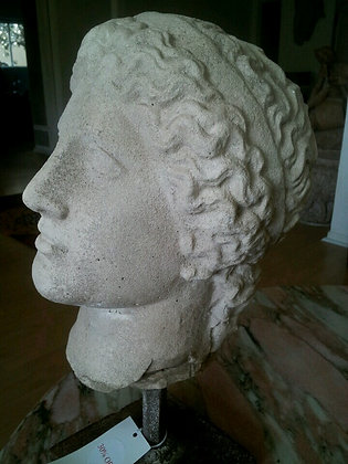 HEAD OF ATHENE ON IRON STAND