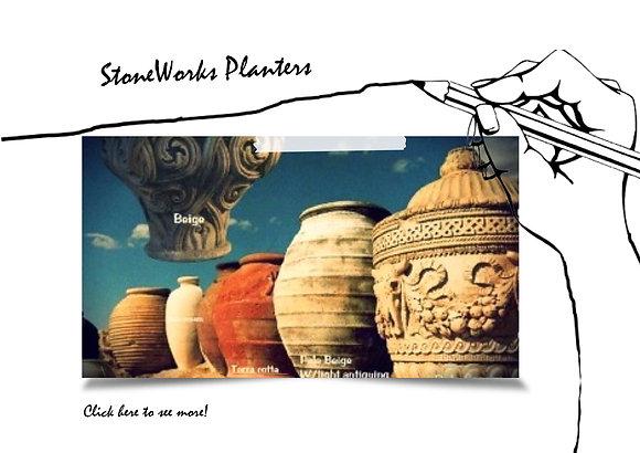 Stone Works Planters