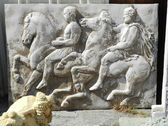 PARTHENON PLAQUE 2 HORSES 2 RIDERS