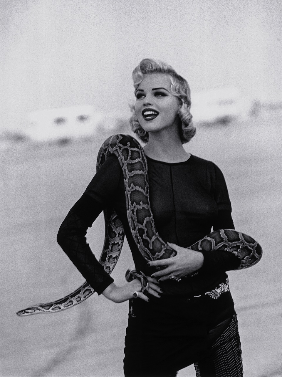 Eva Herzigova et son python de Java