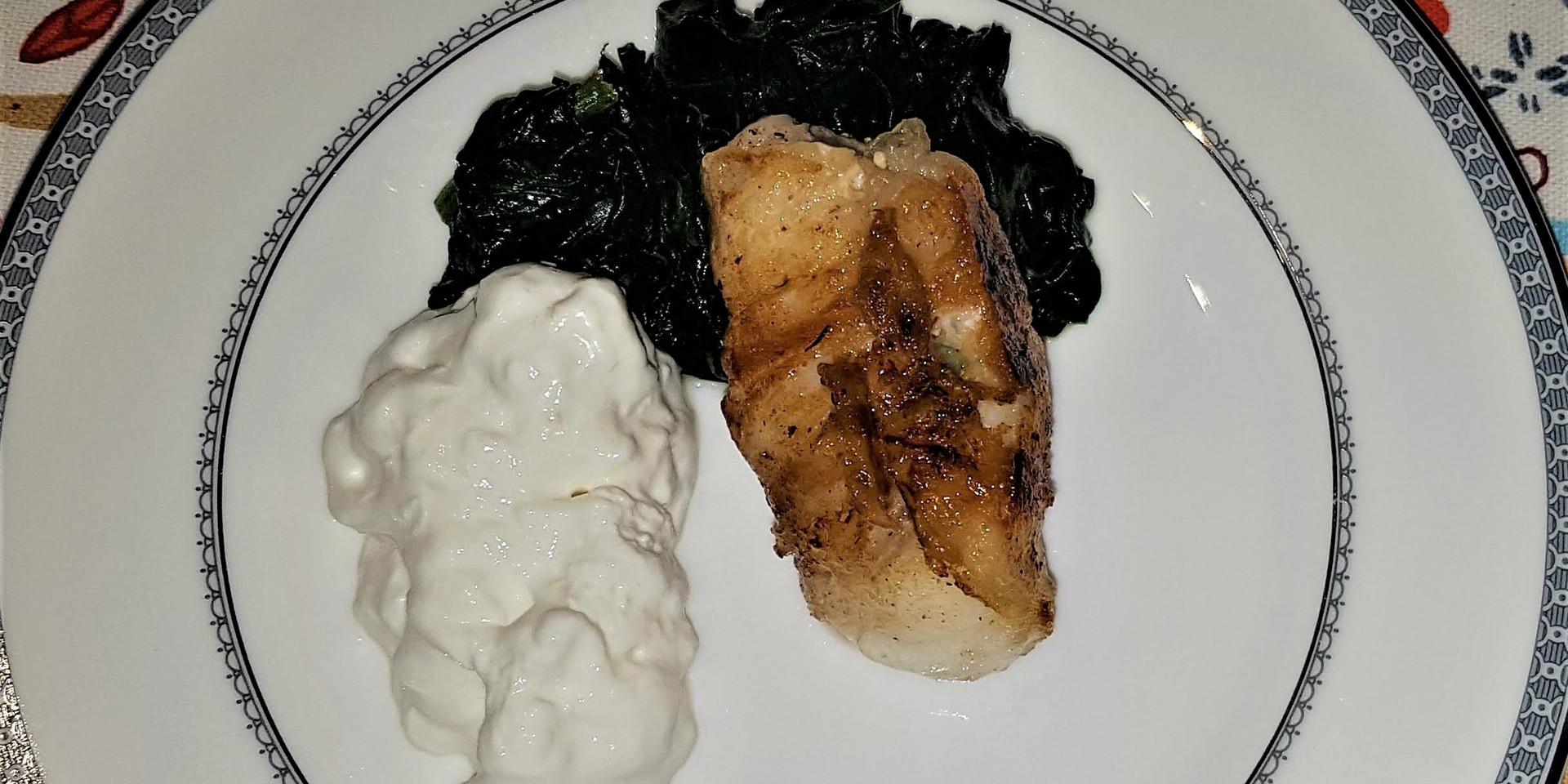 rana pescatrice lardellata con stracciat