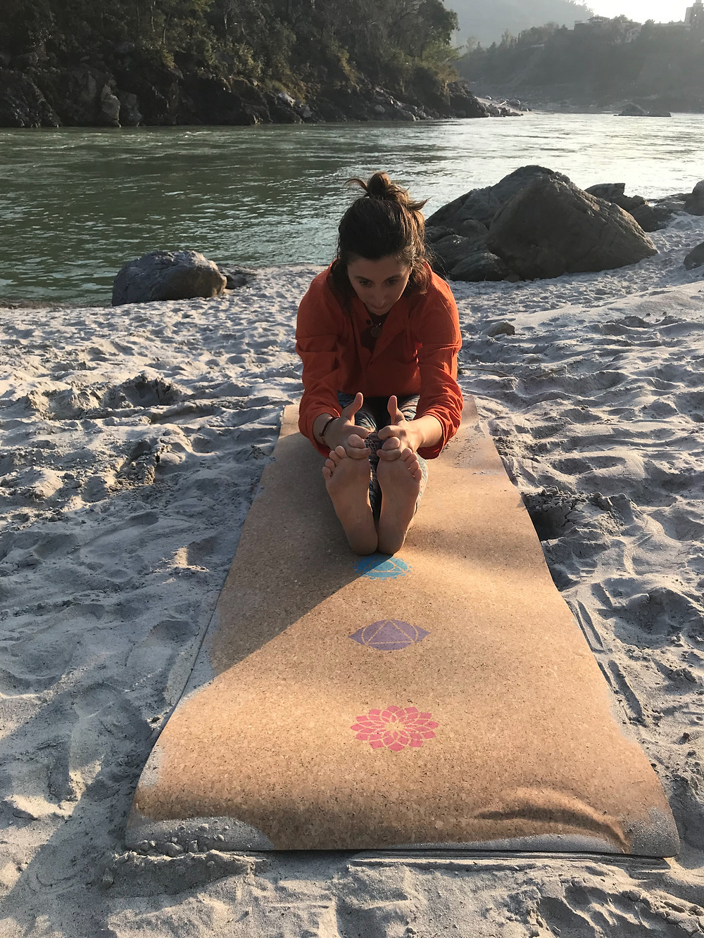 Yoga on the Ganges River, Rishikesh